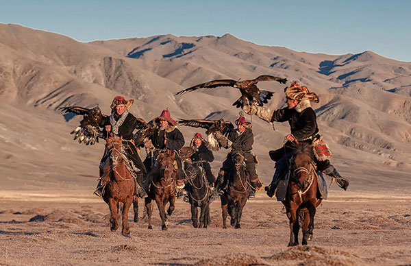 The Eagle hunters in Mongolia