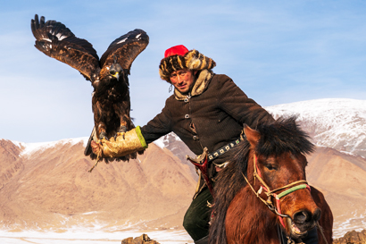 Eagle hunter in Mongolia