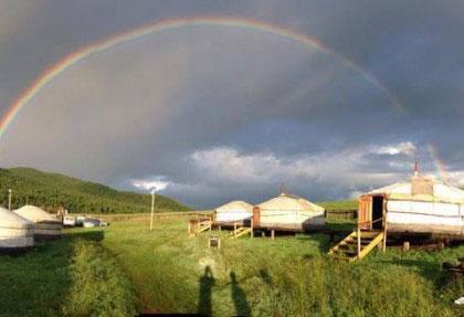 beautiful rainbow, mongolia travel, premium travel