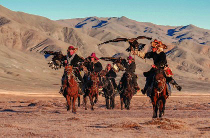 eagle festival, kazakh tribe