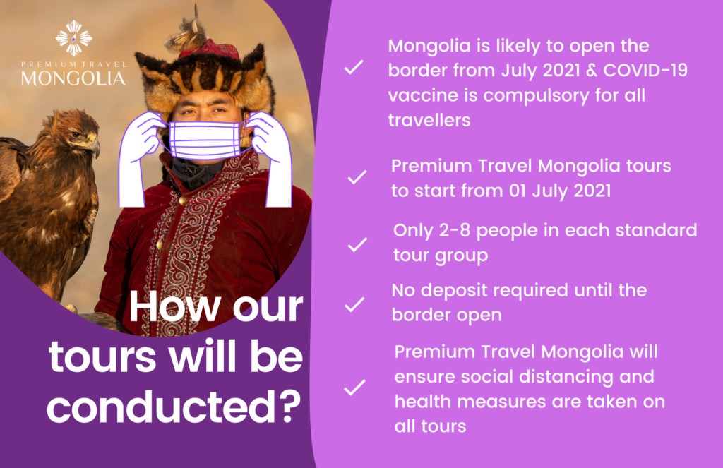 How Premium Travel Mongolia tours will be conducted
